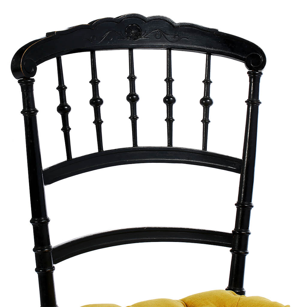 Chaise « Charivari » Style Napoléon III Capitonnée